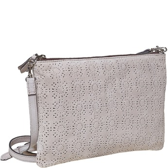 Kožená Crossbody kabelka bata, šedá, 963-2135 - 13