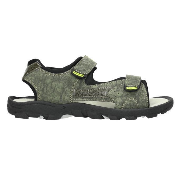 Sandály na suché zipy dětské mini-b, zelená, 461-7605 - 15