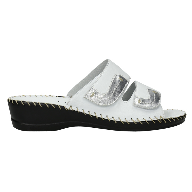 Kožená domácí obuv comfit, bílá, 674-1600 - 15