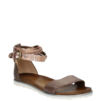 Kožené dámské sandály bata, hnědá, 566-4603 - 13