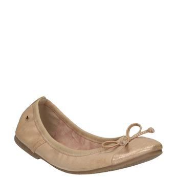Dámské baleríny s pružným lemem bata, béžová, 521-5601 - 13