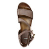 Dámské sandály na výrazné podešvi bata, hnědá, 666-4604 - 19