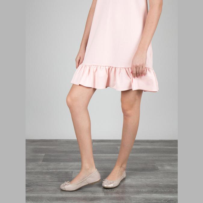 Dámské baleríny s pružným lemem bata, růžová, 521-8601 - 18