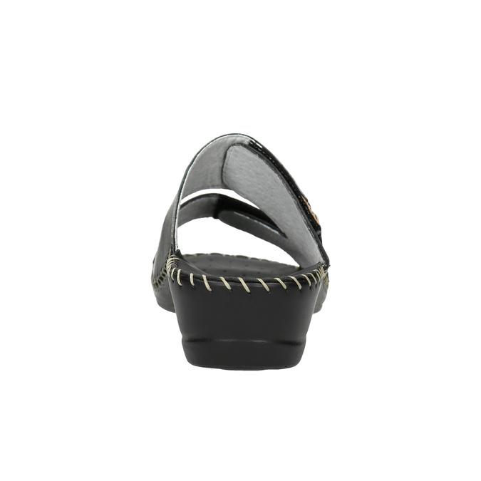 Kožená domácí obuv comfit, černá, 674-6600 - 17