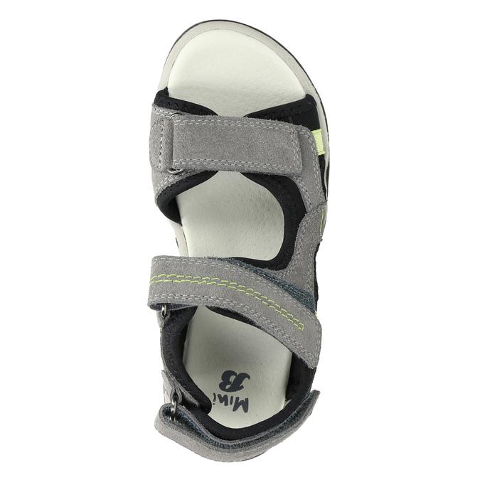 Kožené dětské sandály mini-b, šedá, 463-2602 - 19