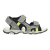 Kožené dětské sandály mini-b, šedá, 463-2602 - 15