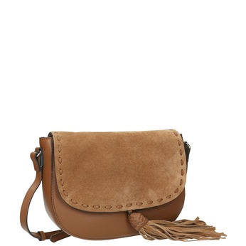 Kožená kabelka se střapcem bata, hnědá, 964-3161 - 13