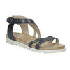 Kožené sandály na výrazné podešvi bata, modrá, 566-9606 - 13