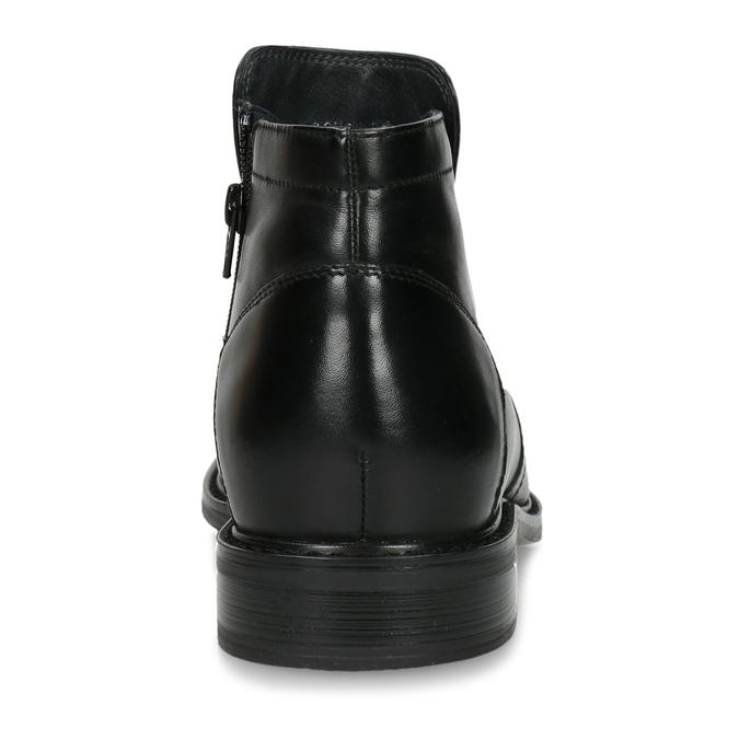 Kožená kotníčková obuv se zateplením bata, černá, 894-6641 - 15