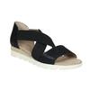Sandály s pružnými pásky bata, černá, 661-6607 - 13