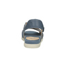 Modré kožené sandály bata-light, modrá, 566-9609 - 17