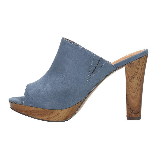 Mules nazouváky bata, modrá, 769-9615 - 26
