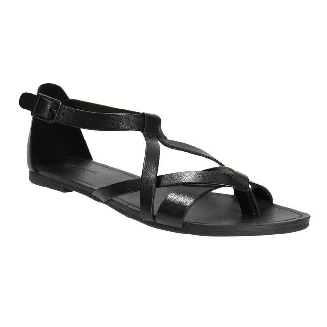 Černé dámské sandály vagabond, černá, 564-6017 - 13