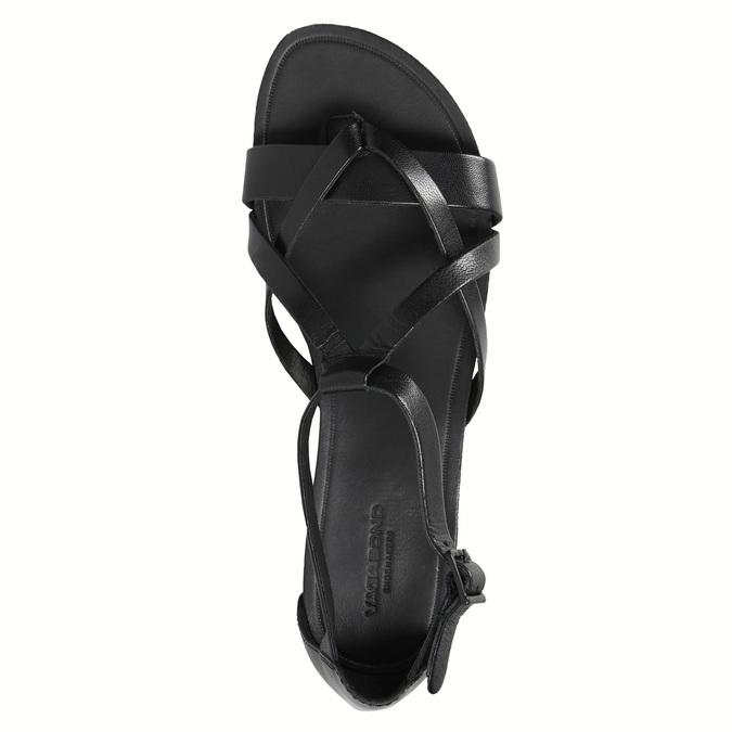 Černé dámské sandály vagabond, černá, 564-6017 - 19