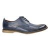 Modré kožené polobotky bata, modrá, 826-9601 - 15