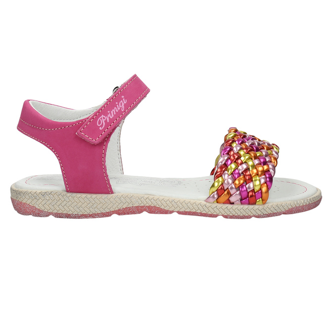 Kožené dívčí sandály primigi, růžová, 366-5010 - 15