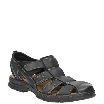 Kožené pánské sandály bata, černá, 856-6600 - 13