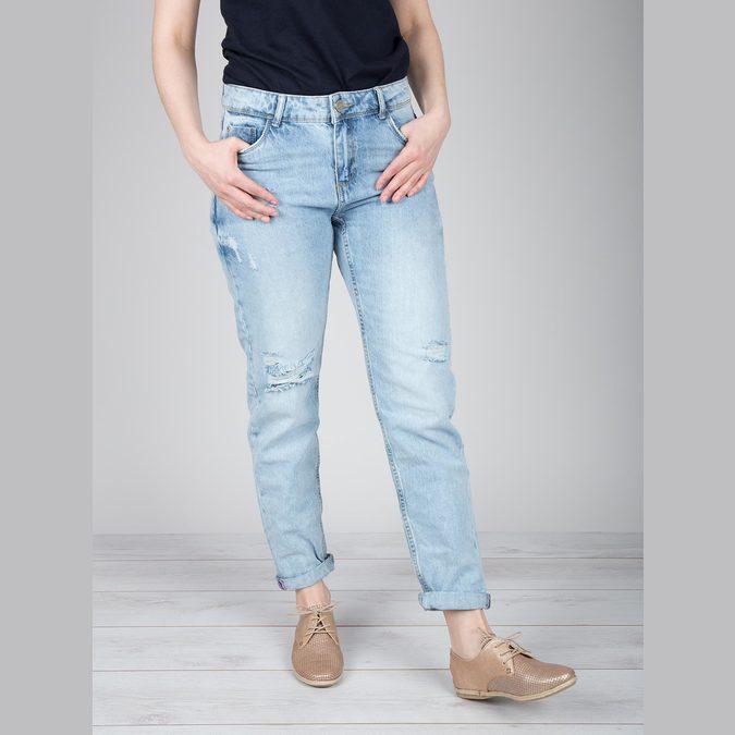Dámské kožené polobotky bata, béžová, 526-8629 - 18