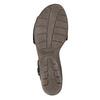 Kožené dámské sandály s perforací gabor, černá, 663-6201 - 26