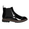 Lakované Chelsea Boots na výrazné podešvi bata, černá, 591-6603 - 15
