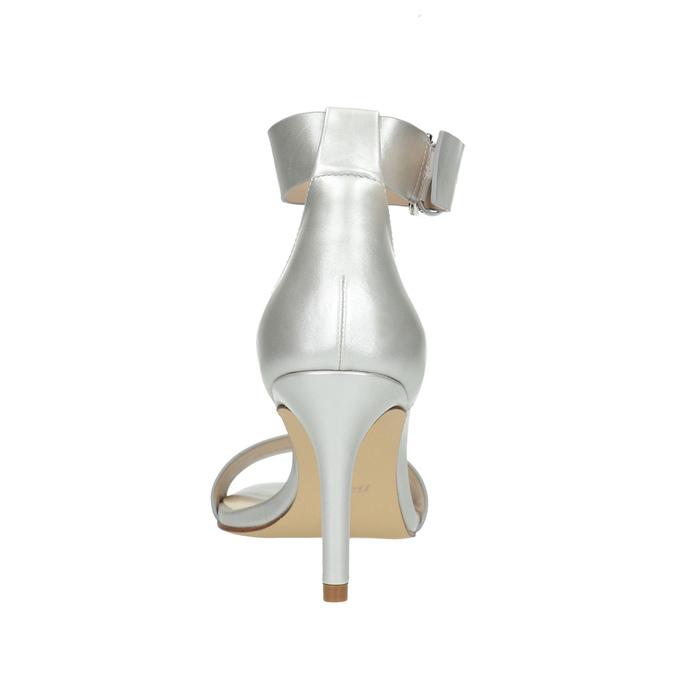 Stříbrné sandály na podpatku insolia, stříbrná, 761-1608 - 17