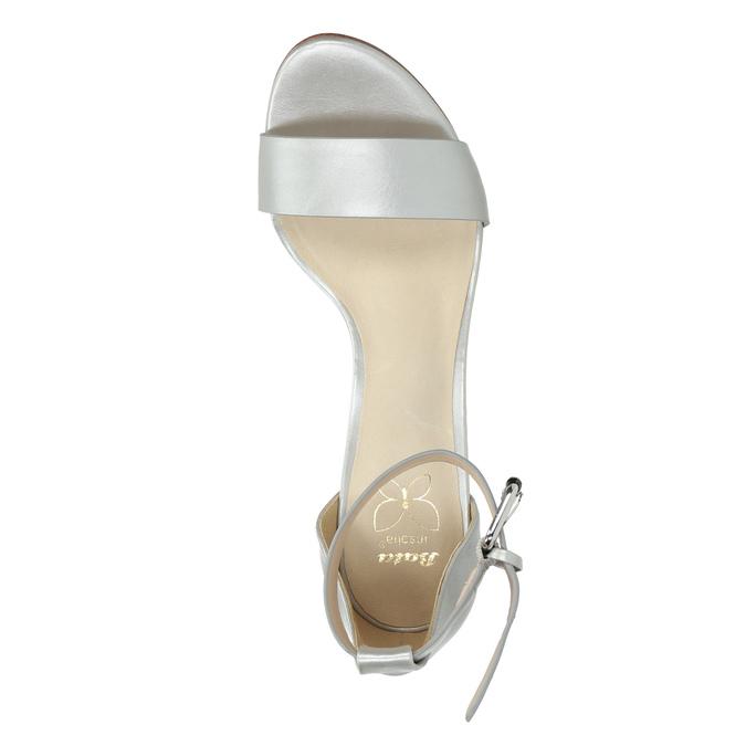 Stříbrné sandály na podpatku insolia, stříbrná, 761-1608 - 19