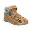 Dětské kožené sandály richter, hnědá, 114-3019 - 13