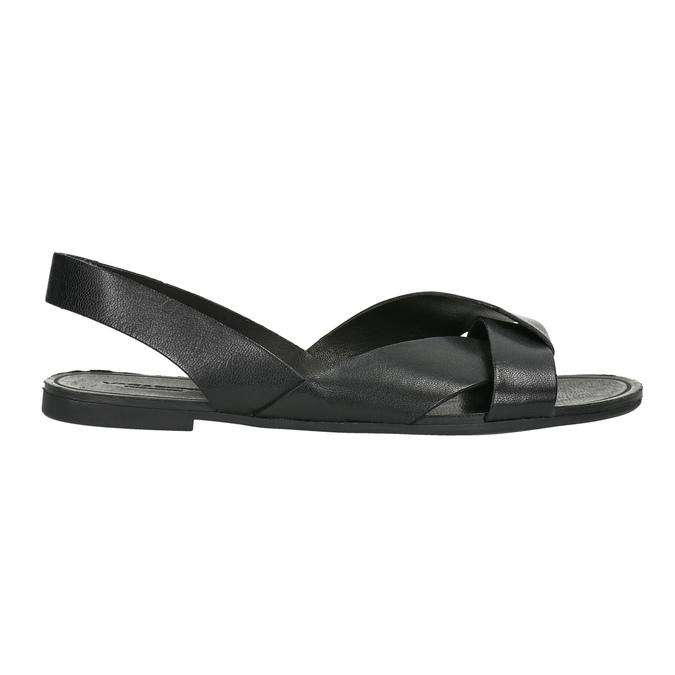 Kožené dámské sandály vagabond, černá, 564-6015 - 15