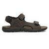 Hnědé pánské sandály z broušené kůže weinbrenner, 866-4631 - 19