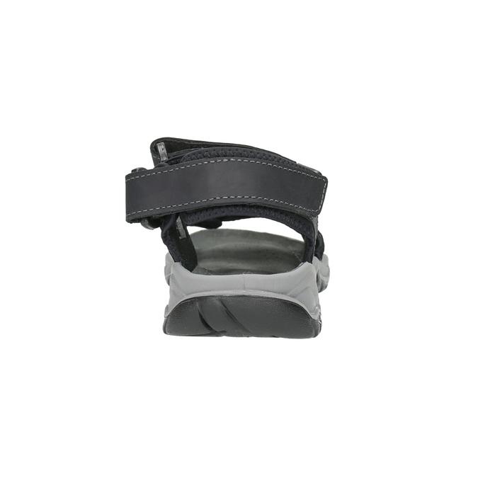 Kožené pánské sandály weinbrenner, černá, 866-6630 - 17