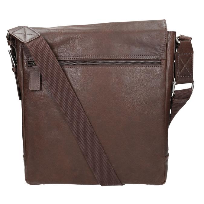Kožená taška v Crossbody střihu bata, hnědá, 964-4222 - 19
