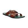 Pánské kožené nazouváky bata, hnědá, 866-3623 - 13