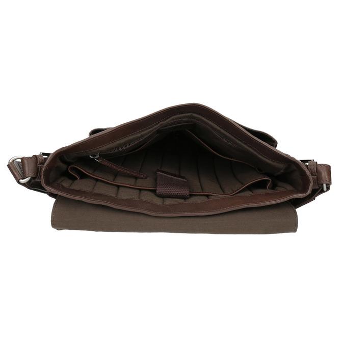 Kožená taška v Crossbody střihu bata, hnědá, 964-4222 - 15