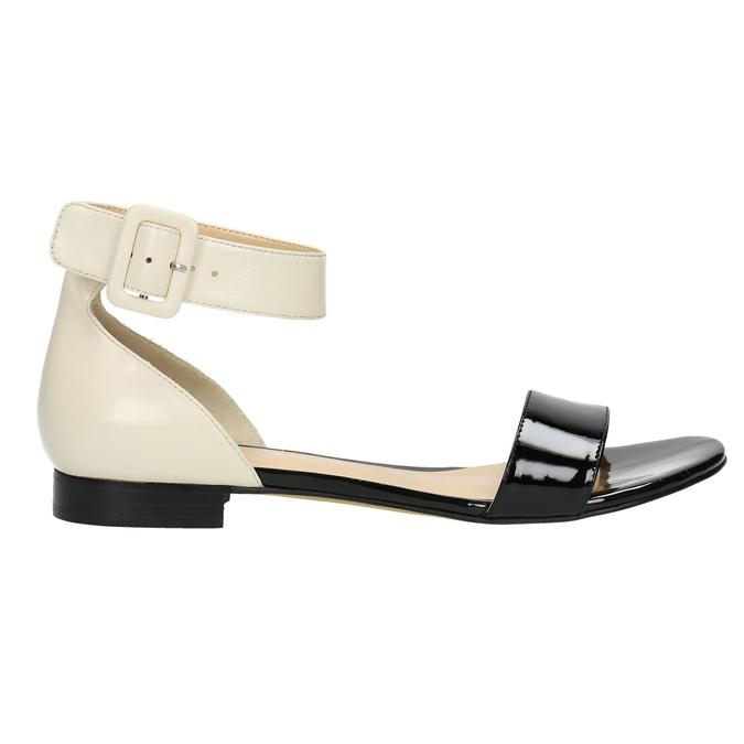 Lakované kožené sandály bata, černá, 568-6606 - 15