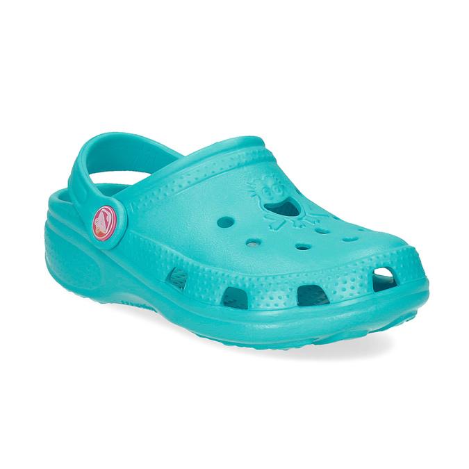 Tyrkysové dětské sandály Clogs coqui, tyrkysová, 372-9605 - 13