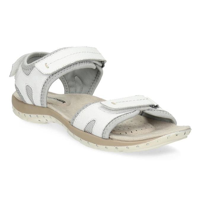 Kožené dámské sandály v Outdoor stylu weinbrenner, bílá, 566-1608 - 13