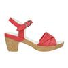 Kožené sandály na nízkém podpatku bata-touch-me, červená, 666-5203 - 15