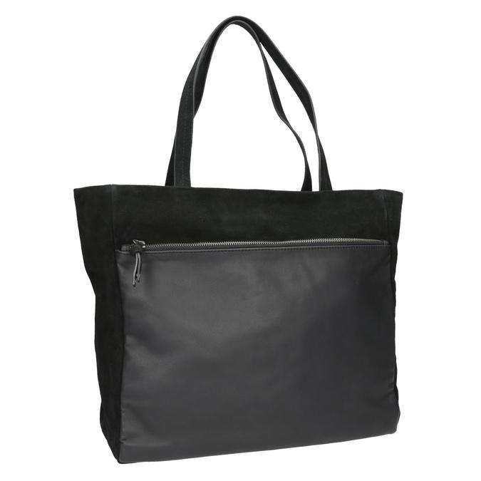 Dámská kožená Shopper kabelka bata, černá, 963-6191 - 13
