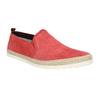 Červená kožená Slip-on obuv bata, červená, 853-5615 - 13