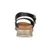 Dámské sandály na výrazné podešvi weinbrenner, černá, 566-6626 - 17