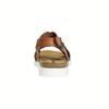 Dámské kožené sandály s propletením weinbrenner, hnědá, 566-4628 - 17