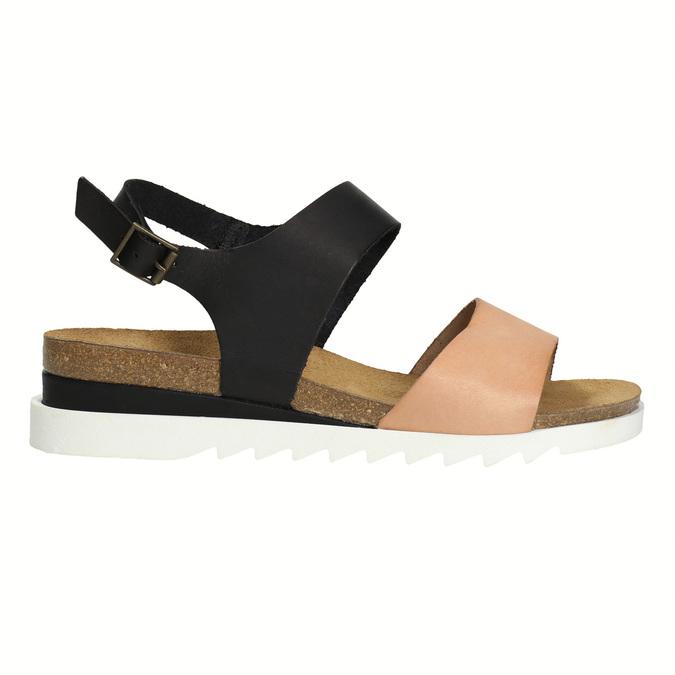 Kožené dámské sandály weinbrenner, černá, 566-6629 - 15