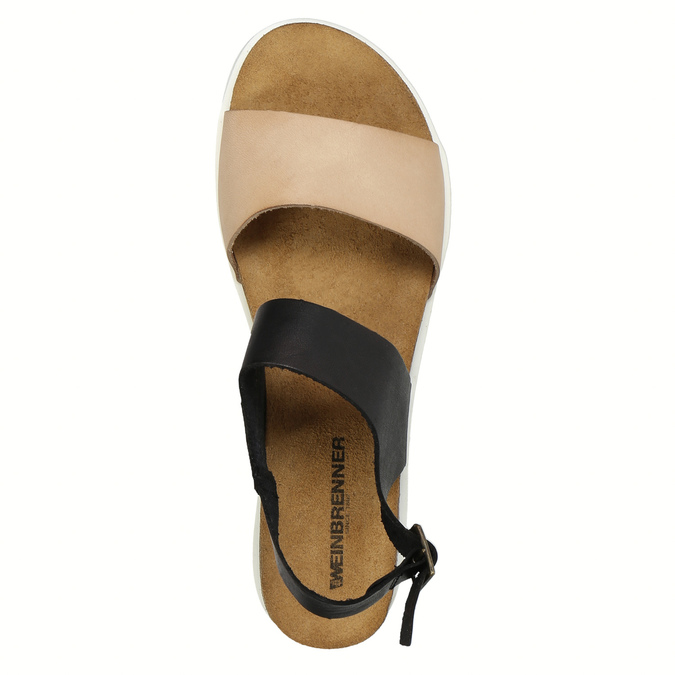 Kožené dámské sandály weinbrenner, černá, 566-6629 - 19