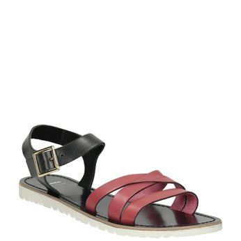 Kožené dámské sandály bata, červená, 566-5615 - 13