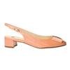 Kožené lodičky s volnou patou hogl, oranžová, 628-8401 - 15