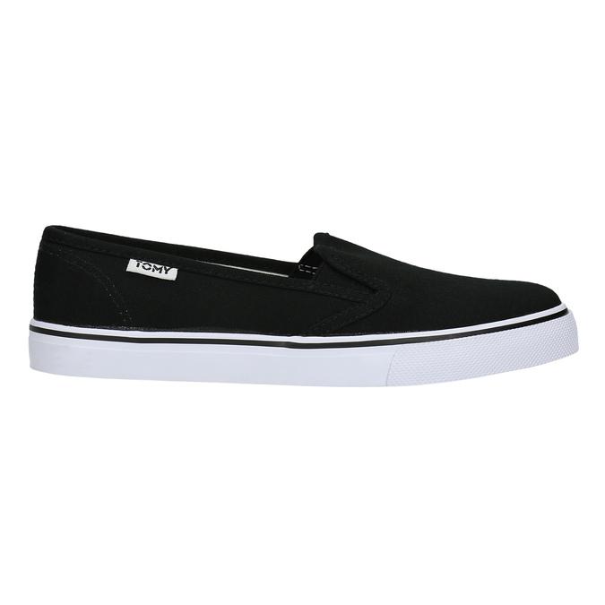 Černé dámské Slip-on tomy-takkies, černá, 589-6170 - 15