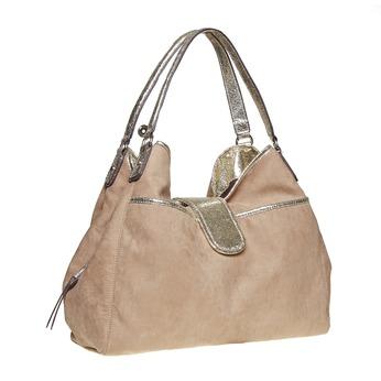 Dámská kabelka se zlatými detaily bata, hnědá, 969-2280 - 13