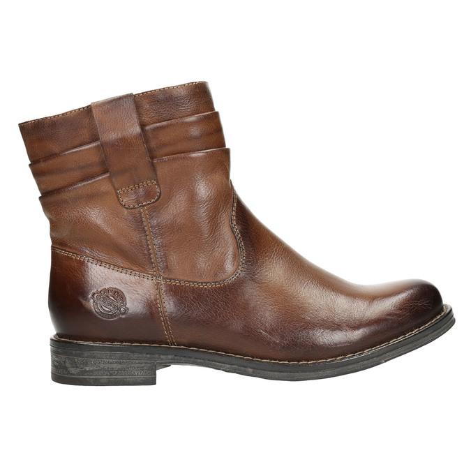 Kožená kotníčková obuv ve Wester stylu bata, hnědá, 594-4611 - 15