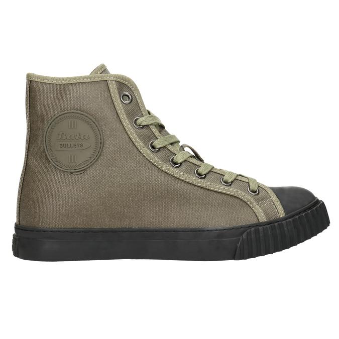 Khaki kotníčkové tenisky bata-bullets, zelená, 589-7143 - 15