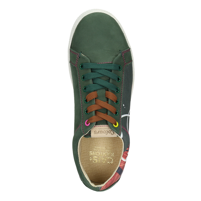 Kožené tenisky z limitované edice bata, zelená, 846-7800 - 26